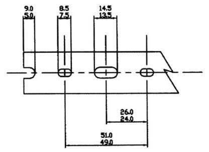AN 8 PIECE BOX OF 2 X 1-1/2 GRAYHIGH DENSITY-NARROW FINGERS