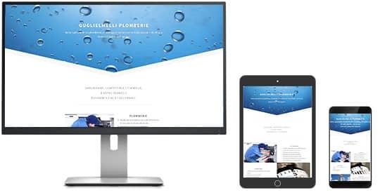 """Le site www.guglielmelli.fr est """"Responsive-Design"""""""