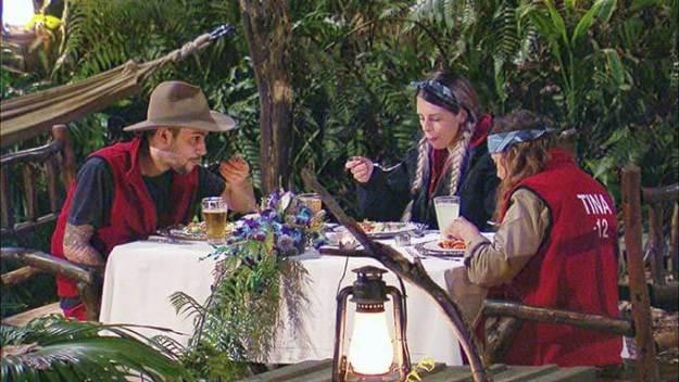 Finales Essen mit Daniele, Jenny und Tina
