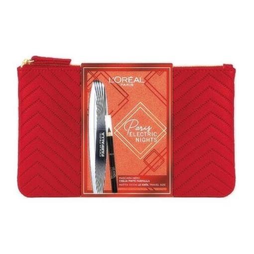 L'oreal Electric Nights Mini Gift Set Σετ Mascara Ciglia Finte Farfalla 7ml & Mini - Superliner Le Khol 101 Midnight Black