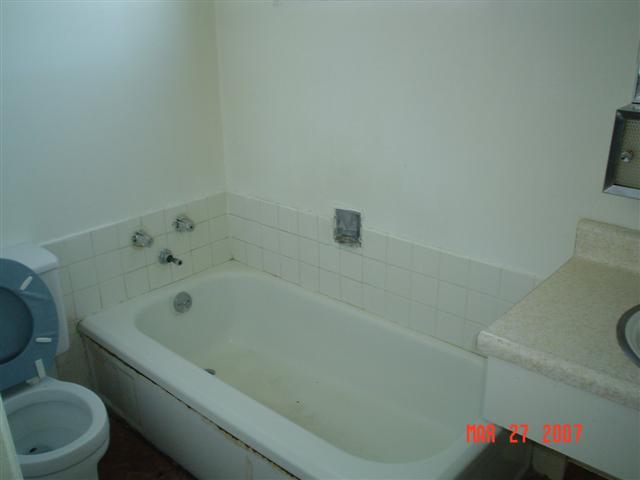 fairfield remodel hall bath before