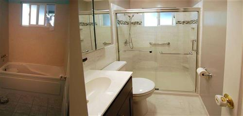 tub to shower stall conversion