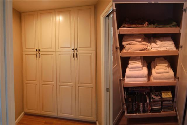 Semi custom linen cabinets