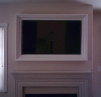 picture framed flat screen tv