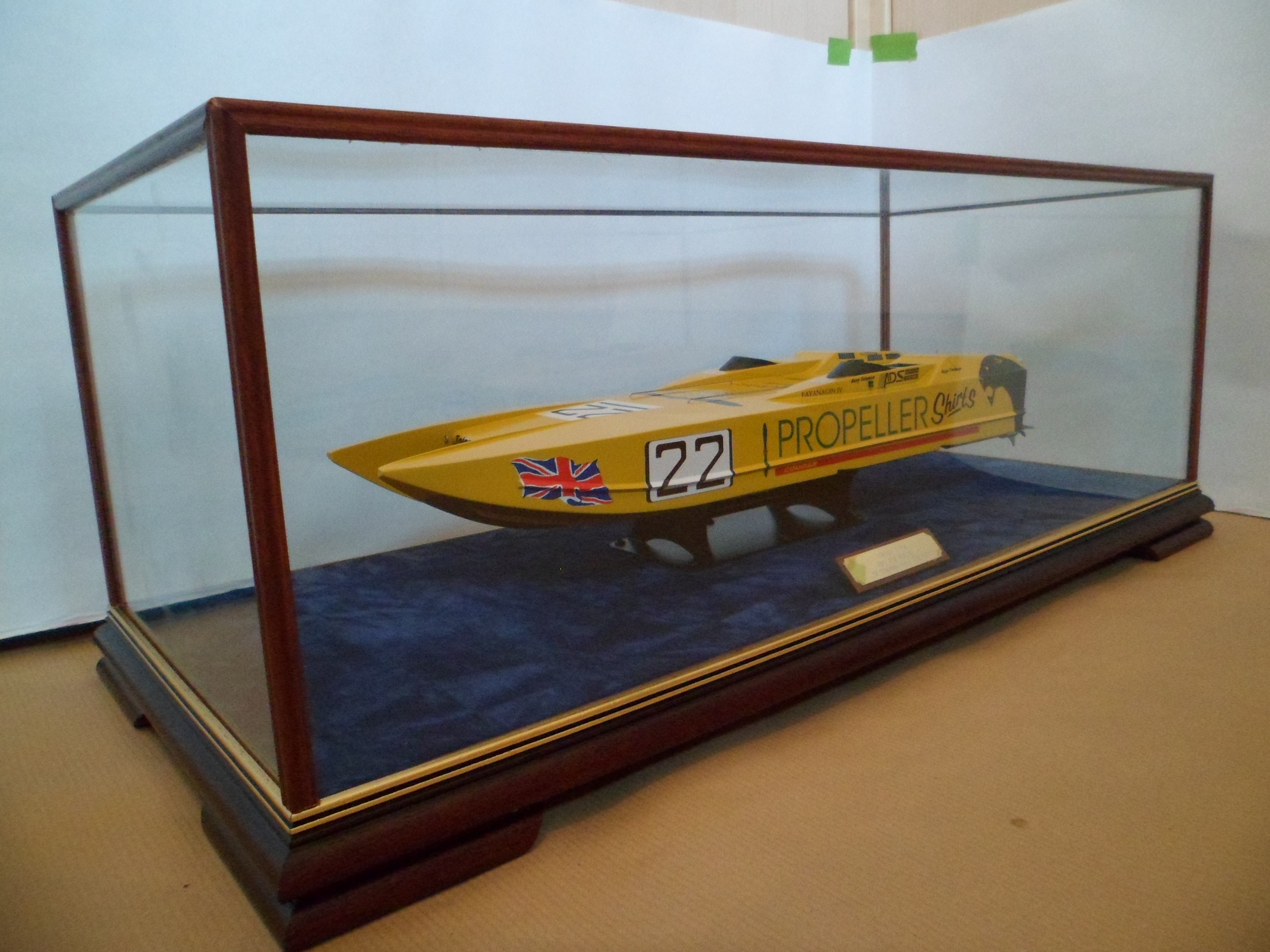 Glass Display Cases for Ship Boat Models  DSC Showcases