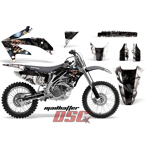 HONDA CRF450R Dirt-Bike. Mad hatter Motocross Black Decal