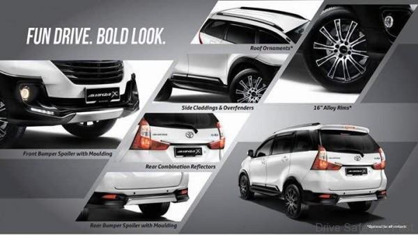 brosur grand new avanza 2018 aksesoris 2016 the x may be in showrooms soon drive safe and fast there are even roof rail mouldings to accentuate this look as well some actually good looking 16 alloy rims