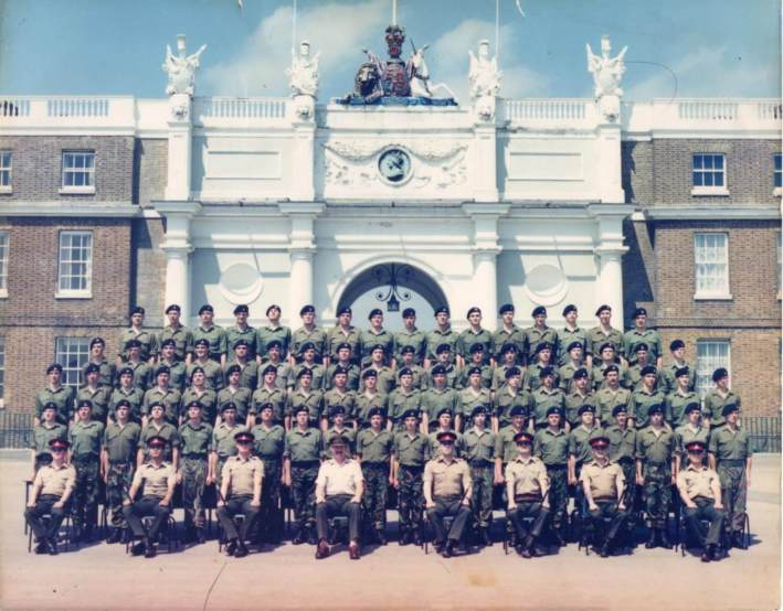 New Recruits before Passing out Parade 1987 including me
