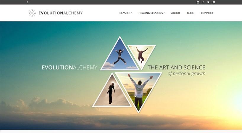 Website design, logo, branding, content writing // evolutionalchemy.com