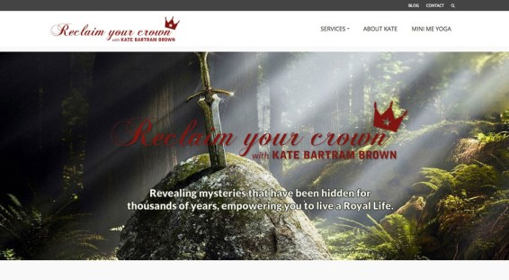 Website design, logo and branding // reclaimyourcrown.co.uk