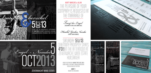 Wedding Stationery for couple, Mr & Mrs Engel-Nomdoe