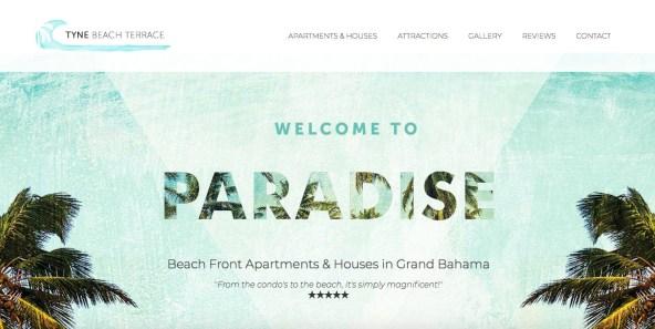 web design, logo and brand design, copy-writing // tynebeachterrace.com