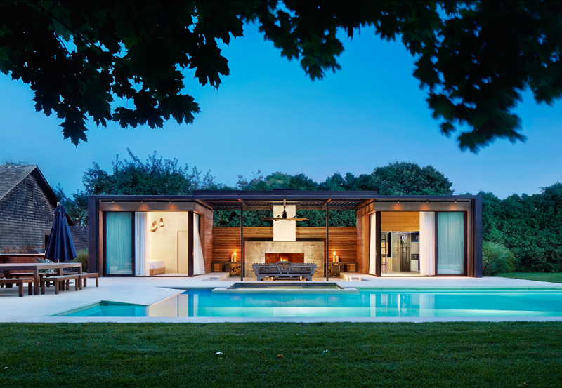 Contemporary Pool House By ICRAVE DESIGN OVERDOSE