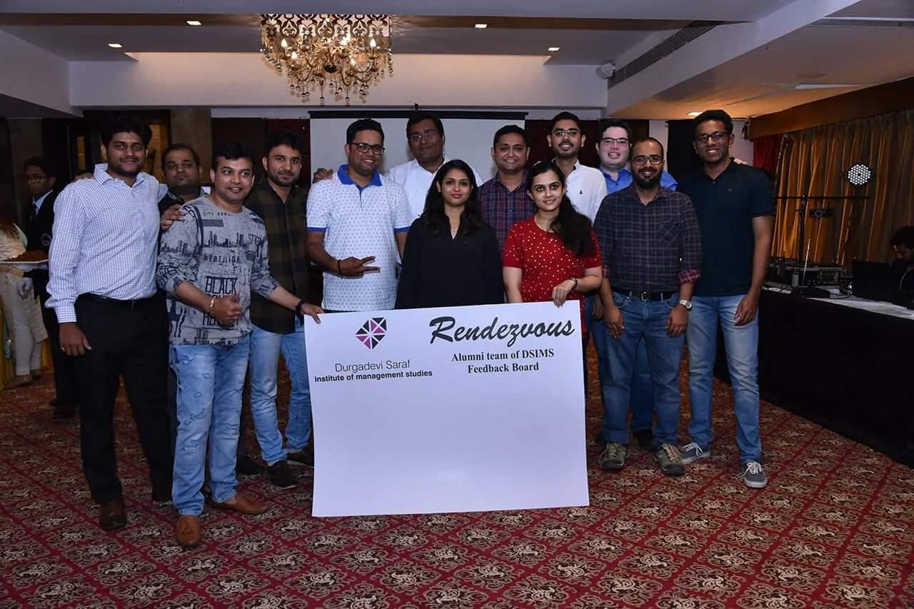 Alumni Team at event