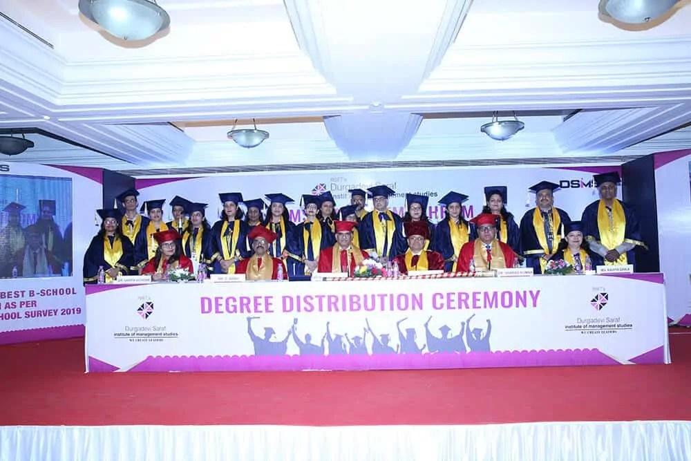 Degree distribution ceremony