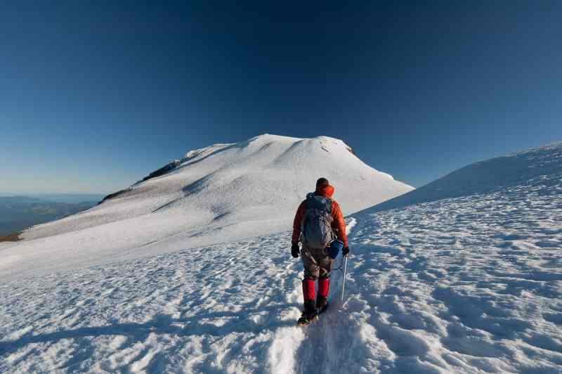Climbing Mt Adams