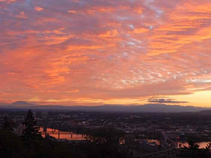 Colorful Portland Sunrise