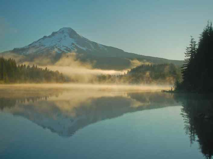 Fishing at Trillium Lake