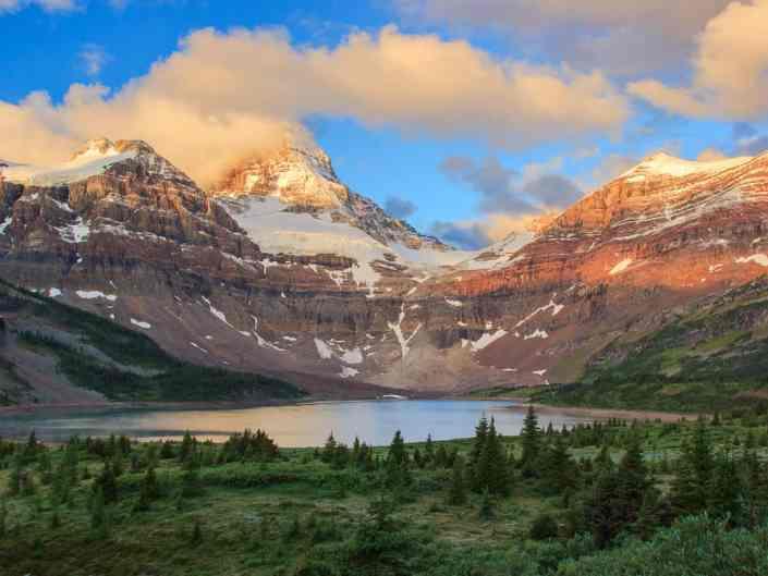 Lake Magog and Mt Assiniboine