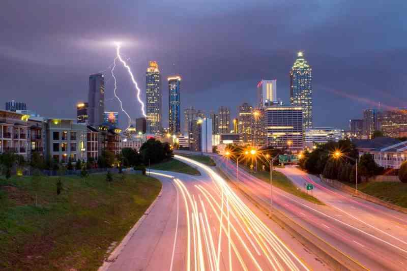 Lightning Storm Over Atlanta