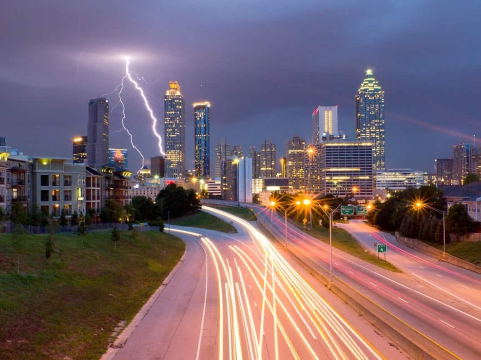 Lightning Storm Over Atlanta