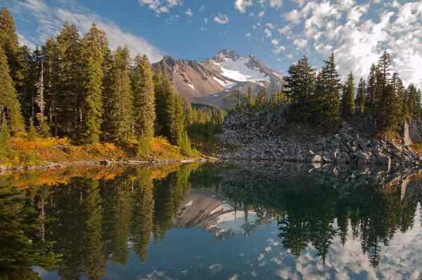 Mount Jefferson Reflecting in Bays Lake