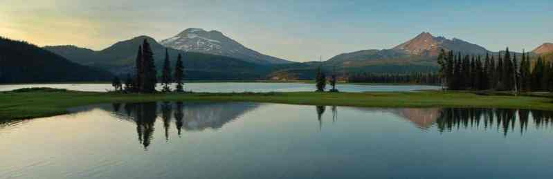 Sparks Lake Sunset Panorama