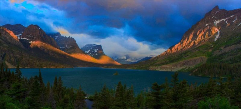 St Mary Lake Sunrise