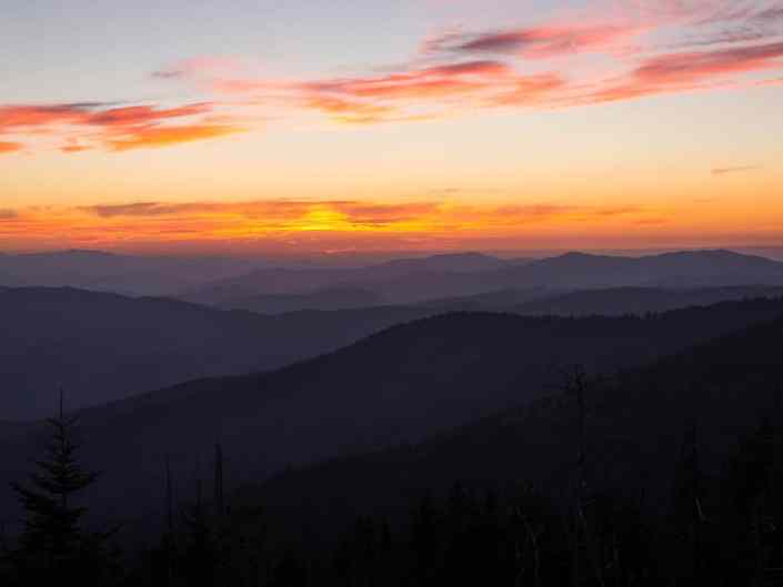 Sunset from Clingmans Dome