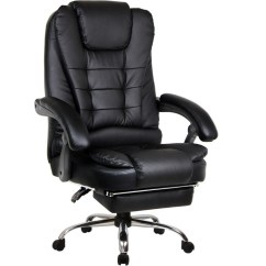 Reclining Office Chair With Footrest India Wobble Australia Apex Deluxe Executive Computer