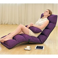 New Chaise Lounge Recliner Chair Sofa Bed (PURPLE)