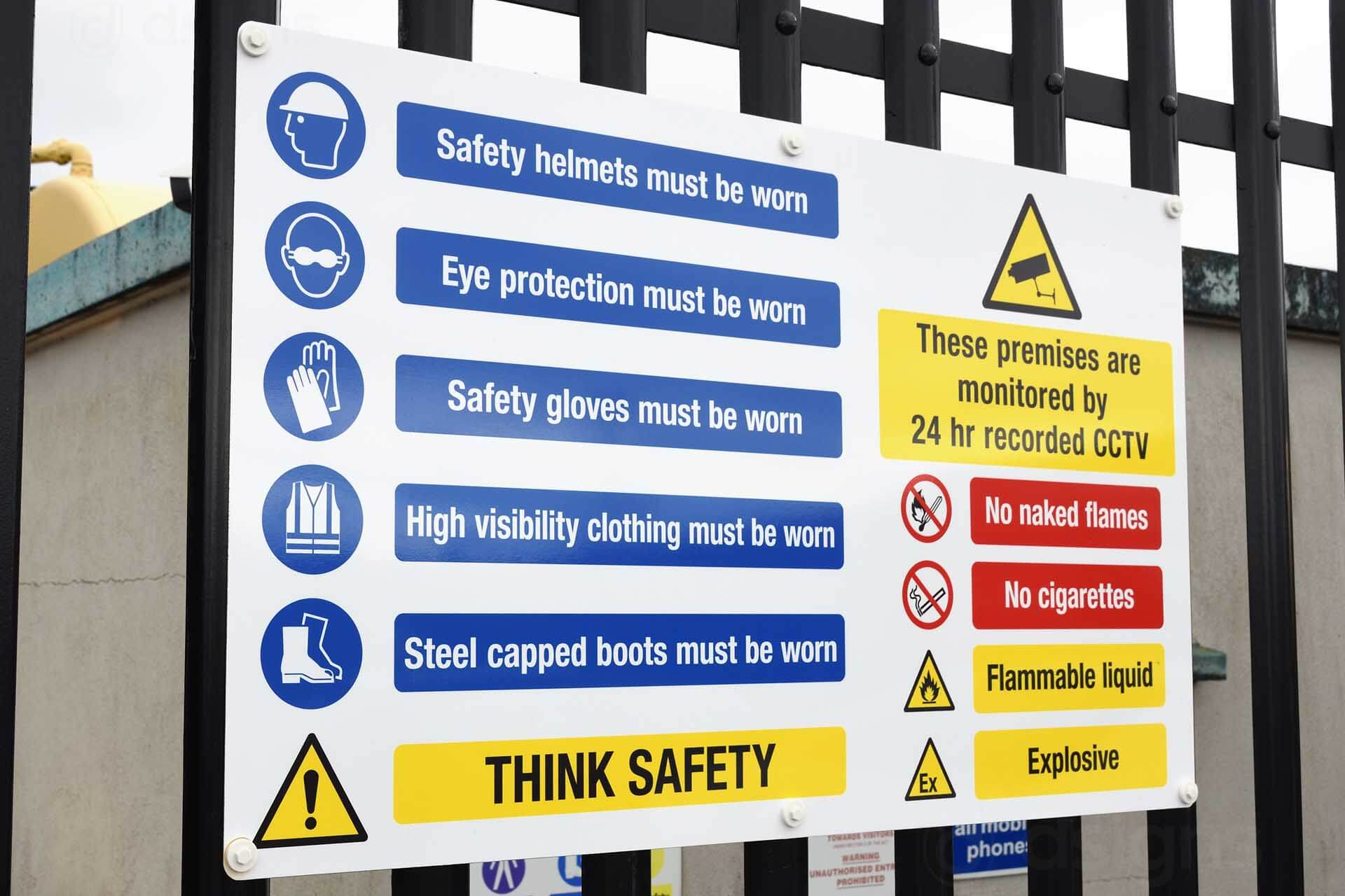 Warning Safety Signs Worksheet