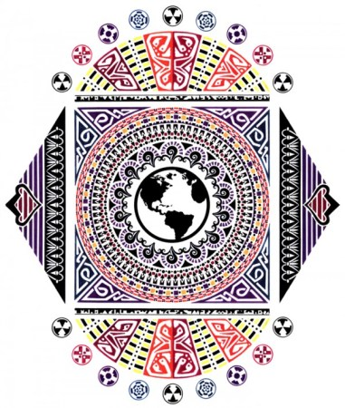 Earth Mosaic Screen-Print