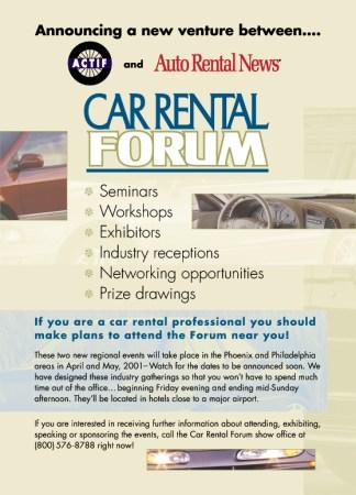 Car Rental Forum Ad