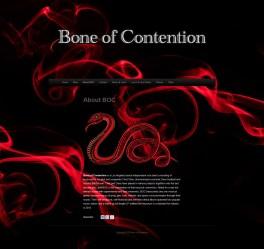 Bone of Contention Band website design
