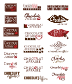Chocolate Affaire logo options