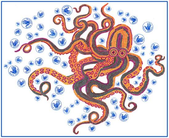 Octopus Mosaic T-Shirt Design