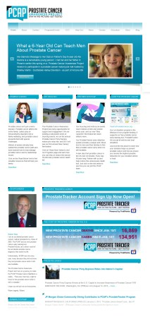 The Prostate Cancer Awareness Project website design
