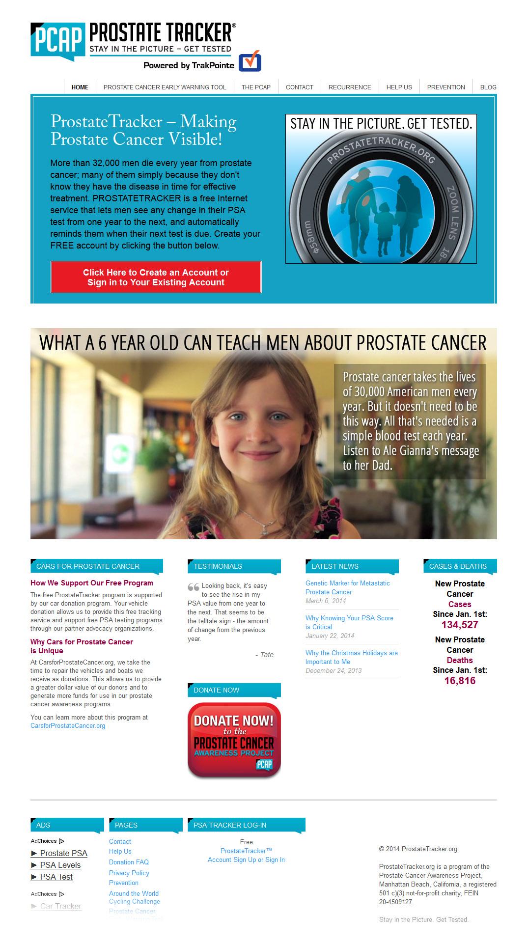 ProstateTracker.com Web Design and Implementation