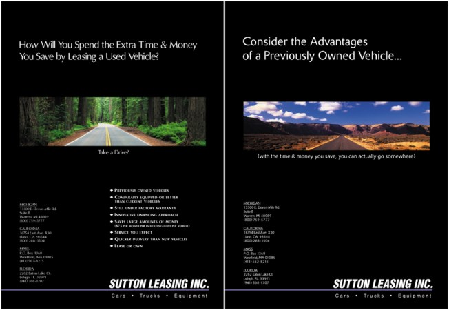 Sutton Leasing Ads