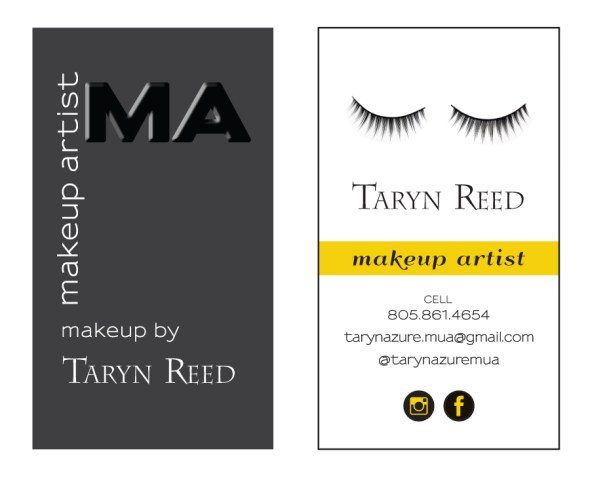 Taryn Reed Makeup Artist Logo Design and Business Card