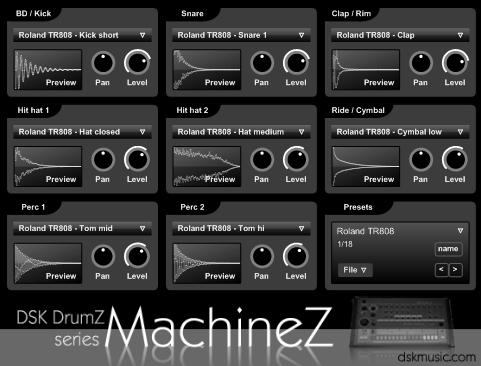 Free VST download DSK DrumZ MachineZ : DSK Music
