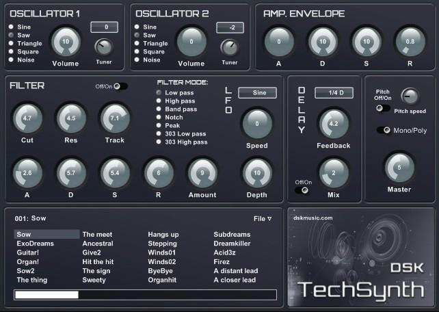 Free VST download DSK TechSynth : DSK Music