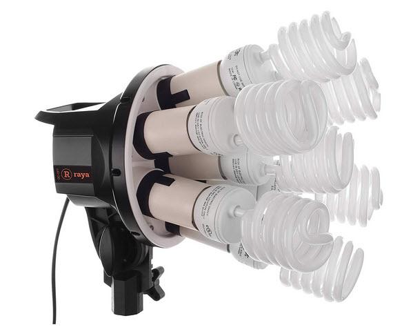 Raya Octa Fluorescent 7 Socket Fixture