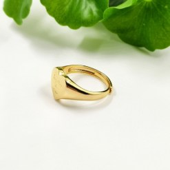NHS Supporting 18k Gold Plated Together As One Pendant Adjustable Ring