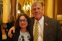 Laura Foley and Senator Brad Zaun