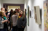 19. Guests viewing artwork