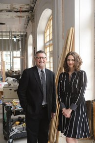 Mark Nelson and Katy Nelson are the father-daughter team who will manage the Tea Room.
