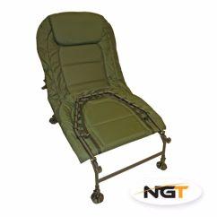 Ngt Fishing Chair Outdoor Covers Ebay Specimen Bedchair 6 Gambe Lettino Carpfishing