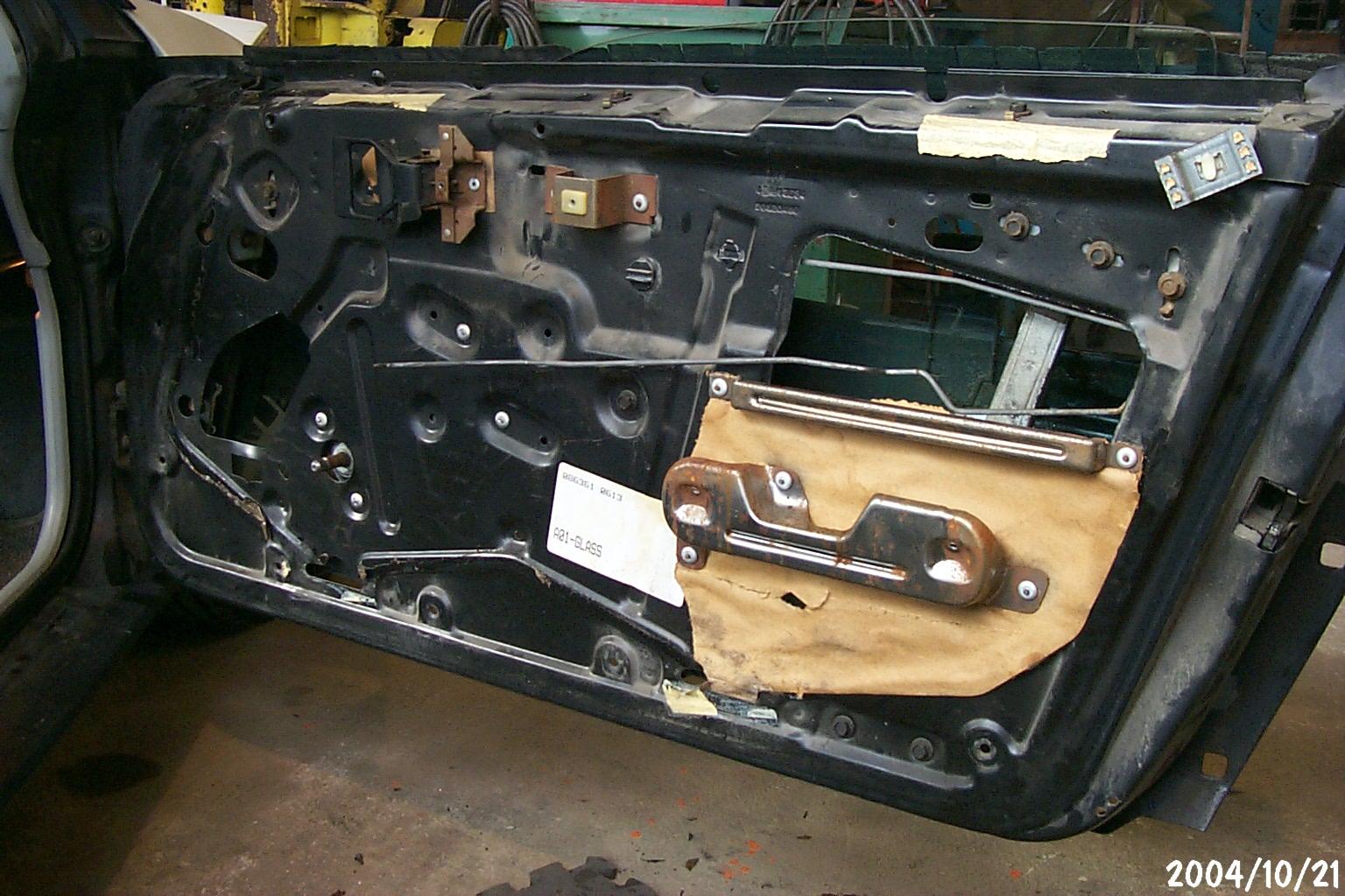 hight resolution of car door appart bad seals make for rusty doors